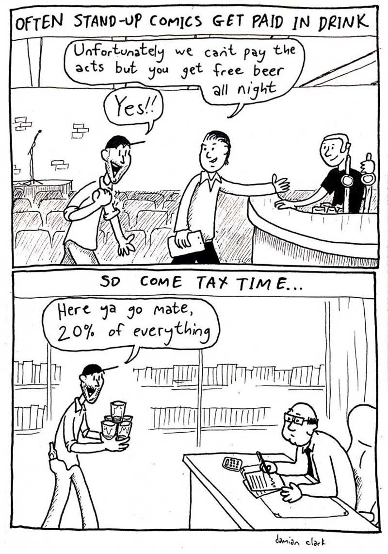 comic free drink