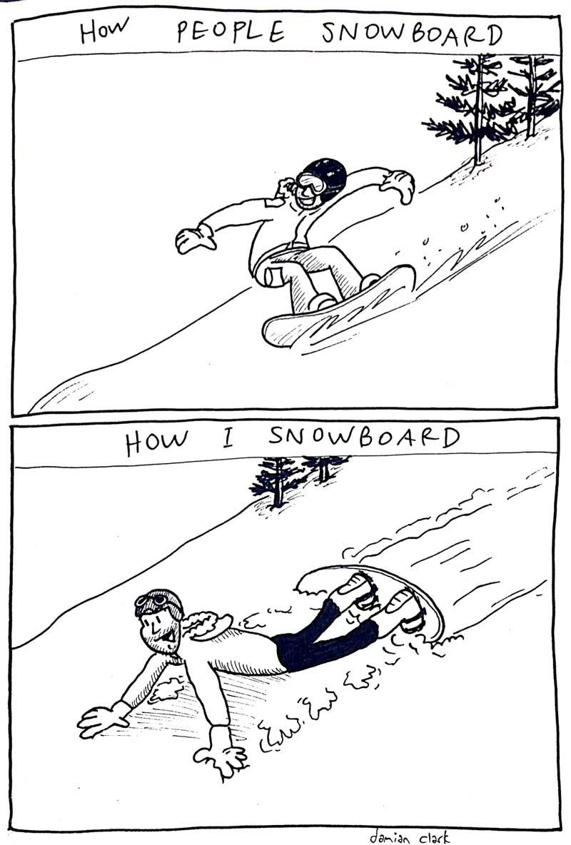 comic snowboard